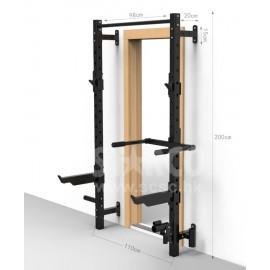 健身綜合訓練器  框型掛墻深蹲架