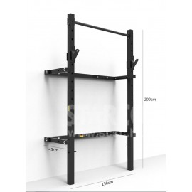 可折叠收納式掛墻深蹲架