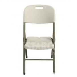厚座高背塑膠摺椅