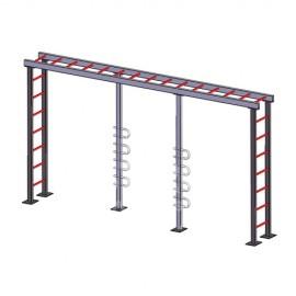 平衡雲梯訓練架工程