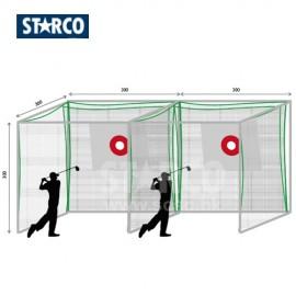 STARCO PG600AL高爾夫球發球練習格(2格)(高質戶外鋁材)